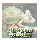 Licences / Certificates