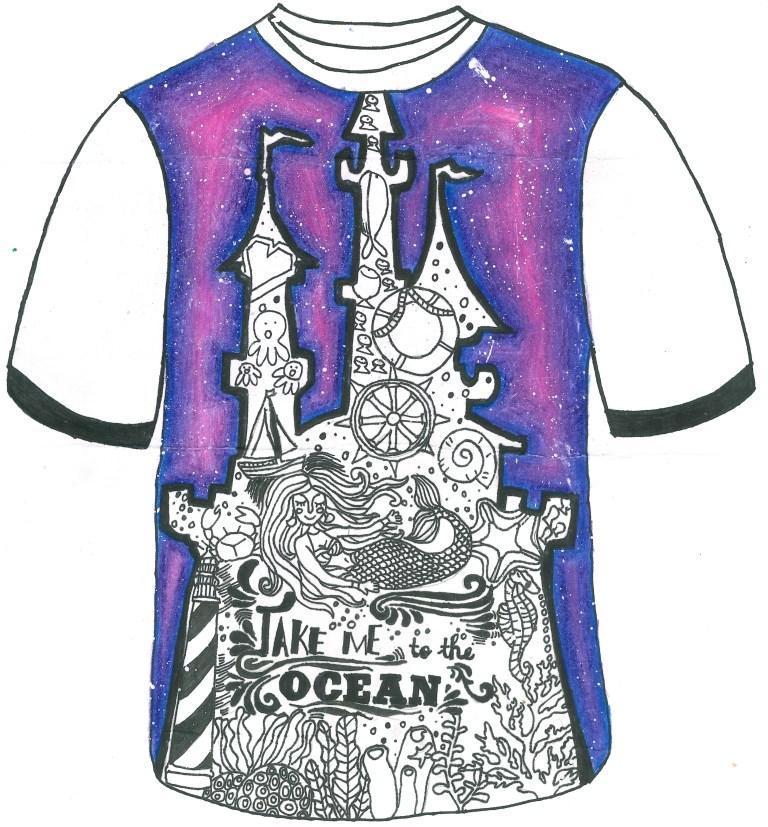 「海洋的新衣」t恤图案设计比赛2016