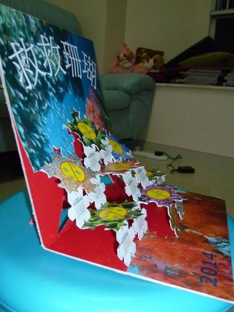海洋护理 珊瑚; 中小学2014立体珊瑚纸艺月历设计比赛