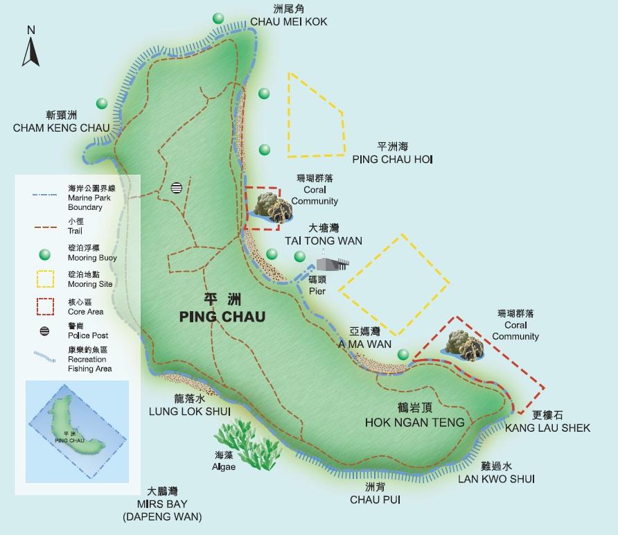 东平洲海岸公园地图